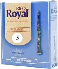 Plátek Rico Royal pro B klarinet - tvrdost 3
