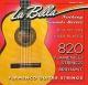 La Bella 820 Flamenco červené - nylonové struny pro klasickou kytaru (medium tension)
