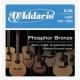 D'Addario EJ 16 PhBr - kovové struny pro akustickou kytaru (light) 12/53