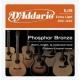 D'Addario EJ 15 PhBr - kovové struny pro akustickou kytaru (extra light) 10/47
