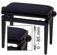 Truwer PS 3 klavírní stolička beethovenka FX černý mat, černý sedák
