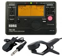 KORG TM 50 C BK - ladička s metronomem + kontaktní mikrofon